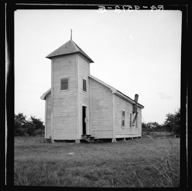 Negro church. Mississippi Delta near Greenville, Mississippi
