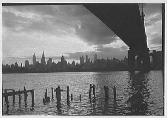 New York City views. Cloud study from under Greensboro Bridge II