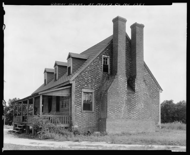 Ohmer House, Sandgates vic., St. Mary's County, Maryland