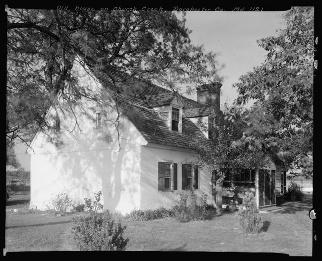 Old house on Church Creek, Dorchester County, Maryland