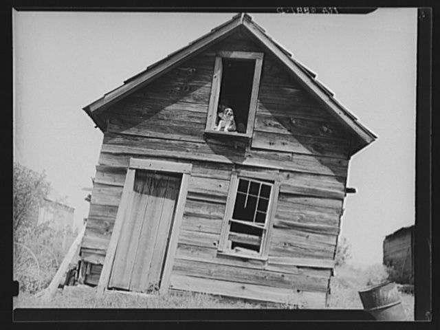 Old Vermont farm building near Hyde Park, Vermont
