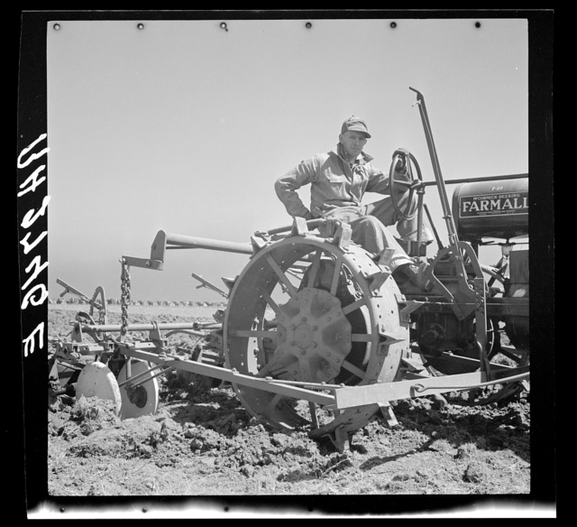 One of the newest pieces of farm equipment. Carson County, Texas