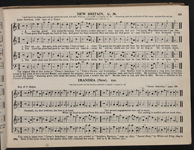 Original sacred harp (Denson revision) the best collection of sacred songs, hymns, odes, and anthems, over offered the singing public for general use