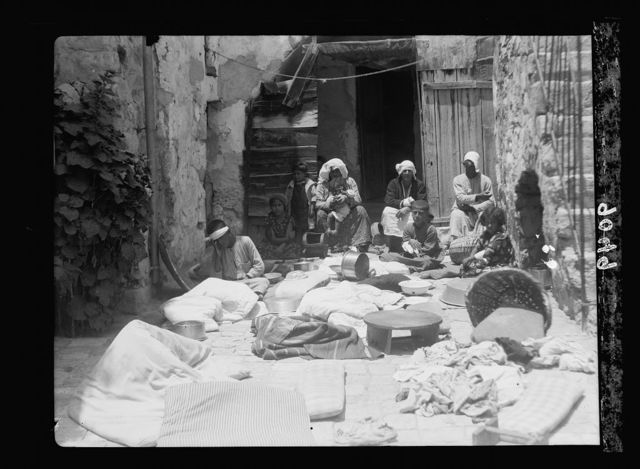 Palestine disturbances 1936. Scene in a Bab Hutta home after an official night raid in search for arms