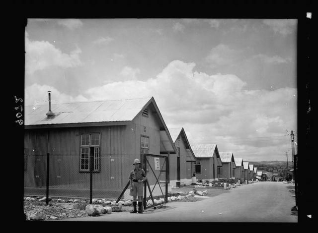Palestine disturbances 1936. Talavera barracks near Talpioth