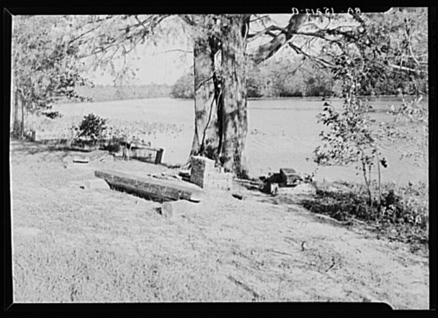 Part of the recreational area on Eastern Shore land use project, Maryland. This spot was formerly known as Milbourne Landing and in the days of plantations was visited by river craft