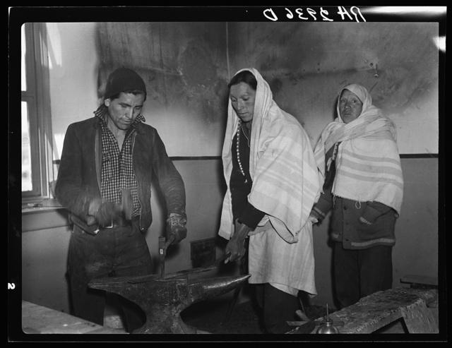 Pueblo Indians in the Indian Service School. Taos, New Mexico