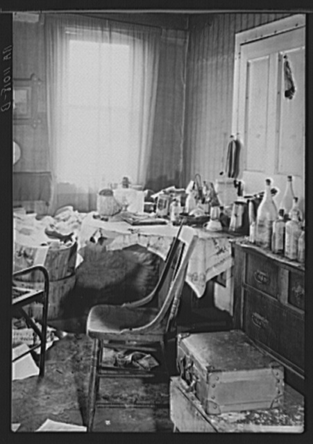 Rensselaerville (vicinity), Albany County, New York. Interior of farmer's house in the United States Resettlement Administration wildlife and reforestation project