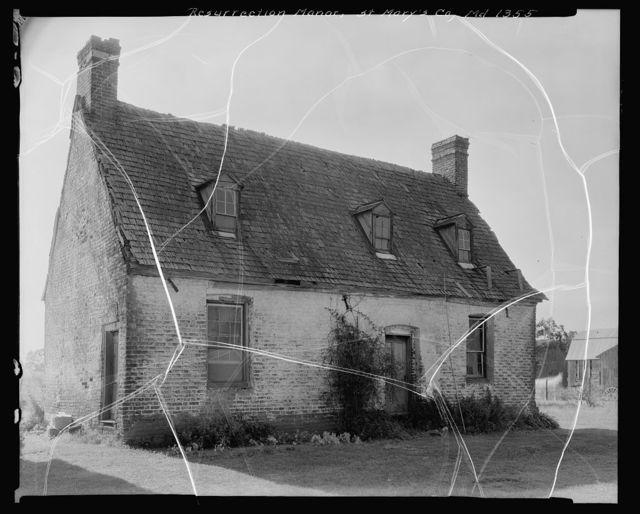 Resurrection Manor, California vic., St. Mary's County, Maryland
