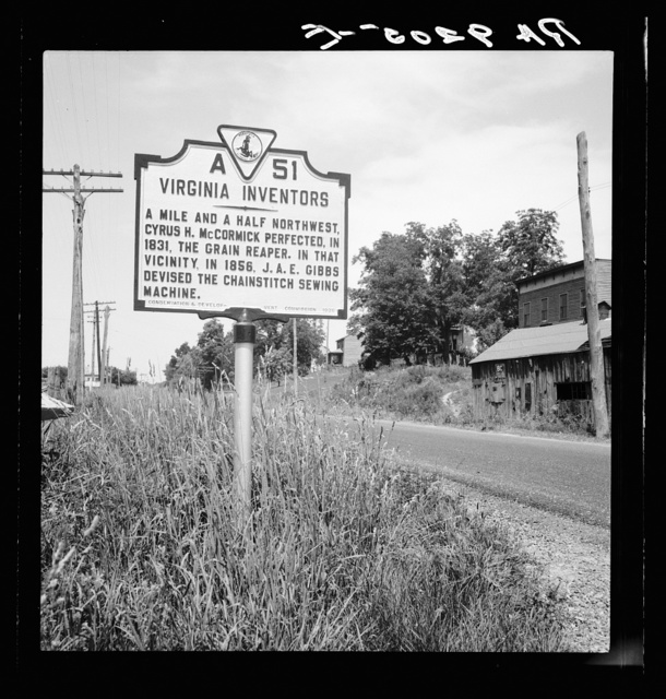 Roadsign at Steele's Tavern, Virginia