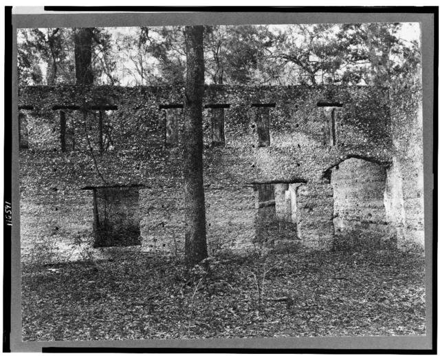 Ruins of supposed Spanish mission. Tabby construction. St. Marys, Georgia