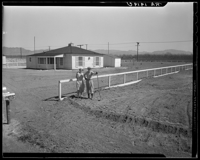 San Fernando federal subsistence homesteads. Forty homes, all occupied, each with nearly an acre of ground. California
