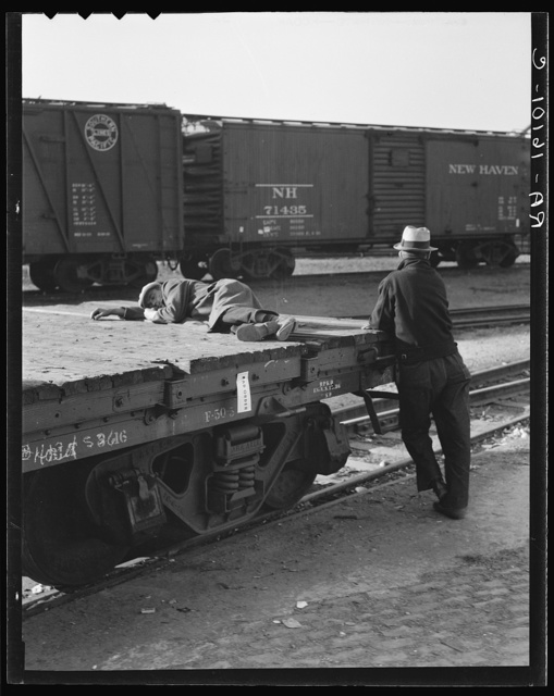 Scene in railroad yard. Sacramento, California