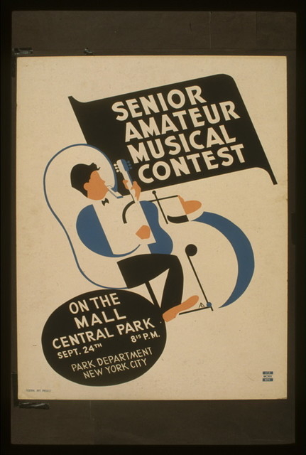 Senior amateur musical contest On the mall, Central Park / / AD(?) [monogram]
