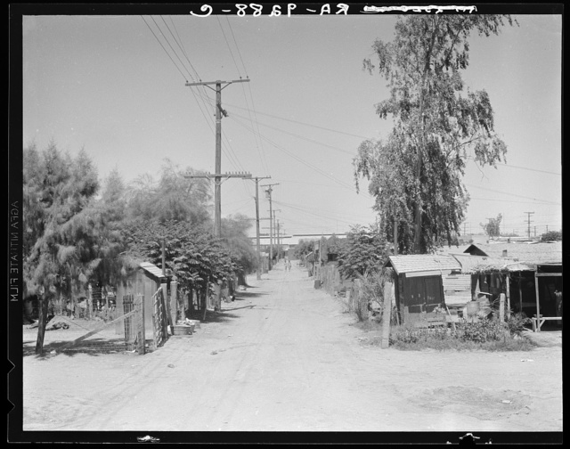 Slums of Brawley. Mexican field workers' homes. Imperial Valley, California