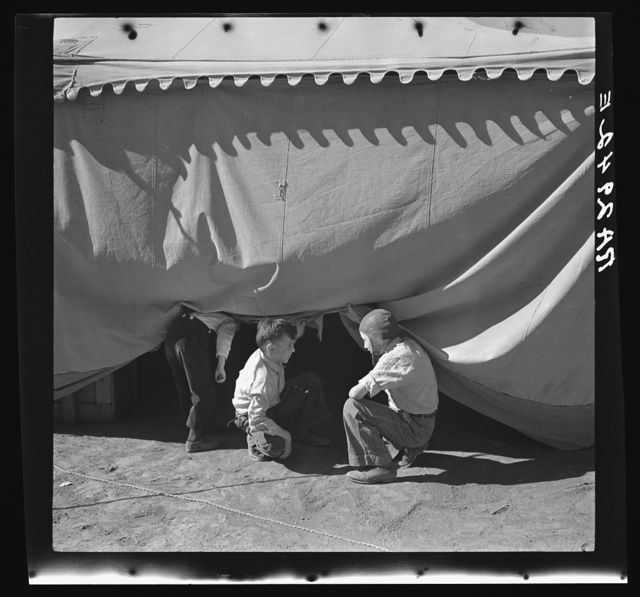 Sneaking under the circus tent. Roswell, New Mexico