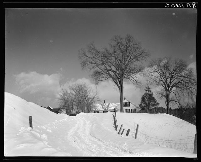 Snow scene. Windsor County, New Hampshire [i.e. Vermont]
