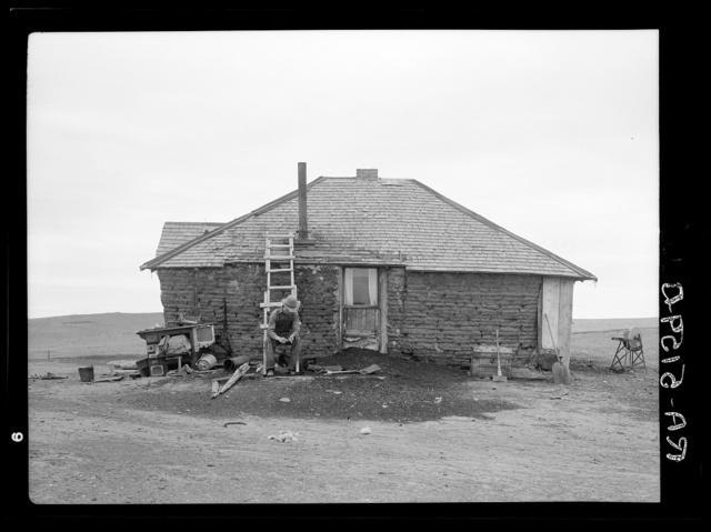 Sod homestead near Bowman, North Dakota