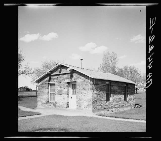 Sod house built as memorial to pioneers of Box Butte County, Nebraska