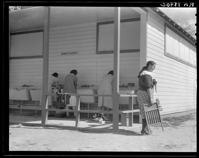 Some of the facilities of the Kern County migrant camp, California