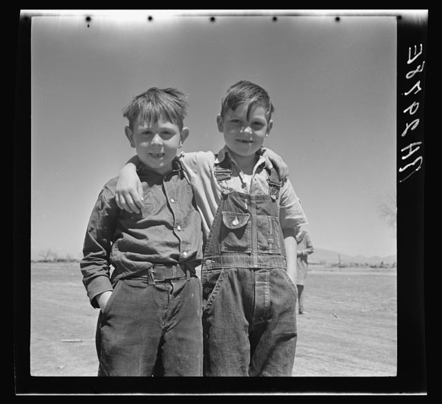 Sons of resettled farmers. Bosque Farms, New Mexico