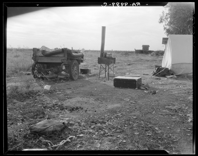 Squatter camp near Shafter, California