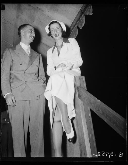 St. Carlo Tuggi of Italian Embassy and Florence Harris at Roadside Theatre, 7/21/36