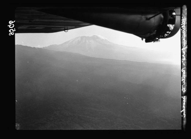 Tanganyika. En route to Arusha. Air view. Mount Kilimanjaro as seen from plane