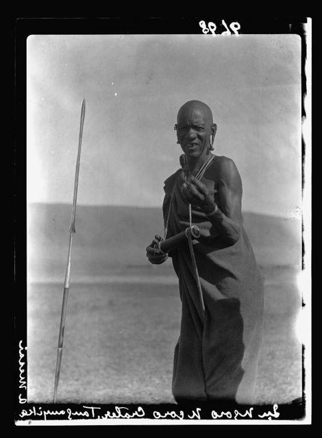 Tanganyika. Ngorongoro Crater. Typical Masai cattle man in the crater
