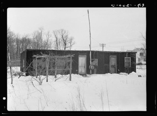 Tarpaper house off Amwell Road, Franklin Township, near Bound Brook, New Jersey