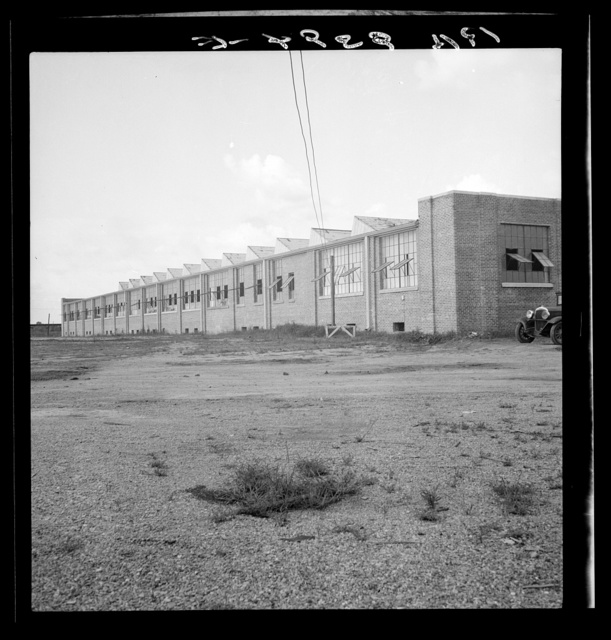Textile factory built by Work Projects Administration (WPA) and leased to private industry to bring payroll to Brookhaven, Mississippi