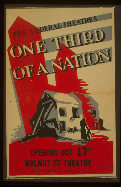 """The Federal Theatre's """"One third of a nation"""" / Leon Carlin."""