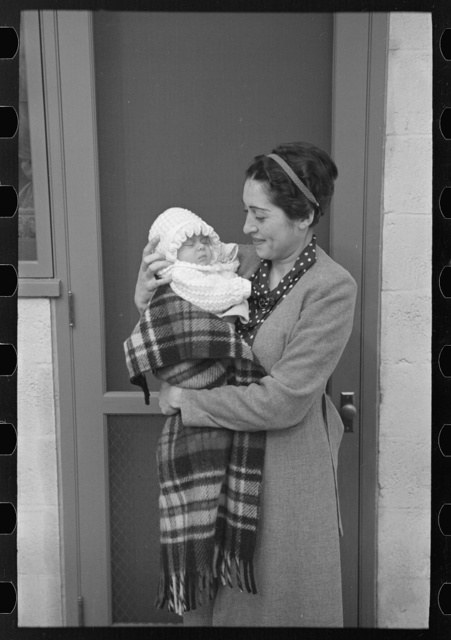 The first baby born, early in October 1936. She is the daughter of Mr. and Mrs. Philip Goldstein, who were moved into the colony July 10, 1936