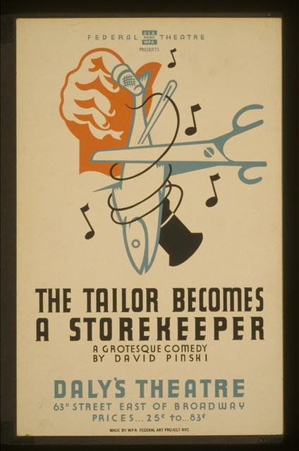"""The tailor becomes a storekeeper"" A grotesque comedy by David Pinski : Daly's Theatre."