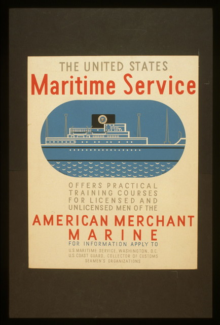 The United States Maritime Service offers practical training courses for licensed and unlicensed men of the American Merchant Marine / Burroughs ; Halls.
