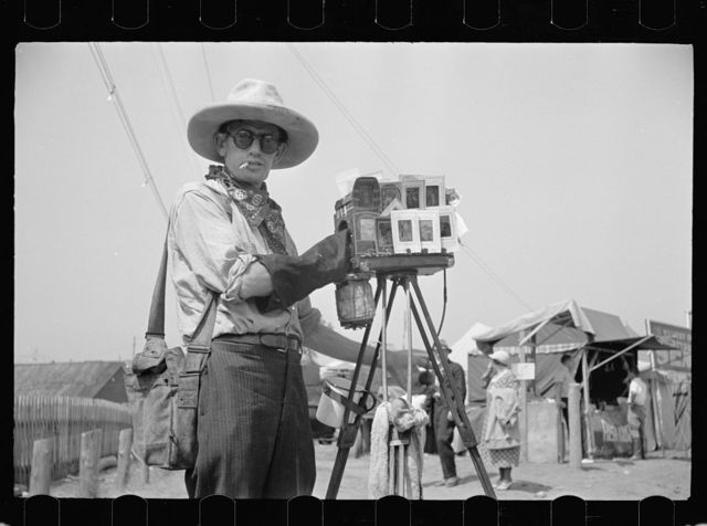 Tin-type photographer at Morrisville, Vermont fair