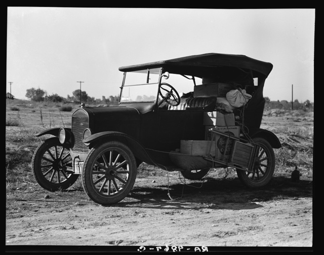 To serve the crops of California, thousands of families live on wheels. Near Bakersfield, California