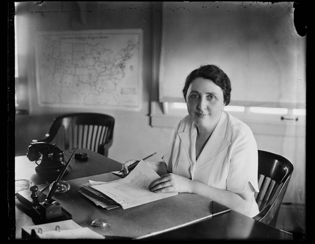 To study social condition abroad. Washington, D.C. Aug. 18. Miss Jane Hoey, Director, Bureau of Public Assistance, and the only woman official of the Social Security Board, is now enroute to Europe where she will make a study of social conditions for the Board