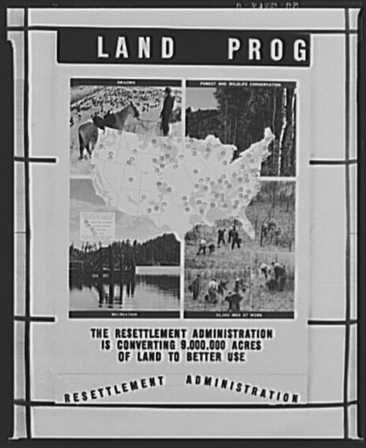 Traveling exhibit. Land program. Panel two