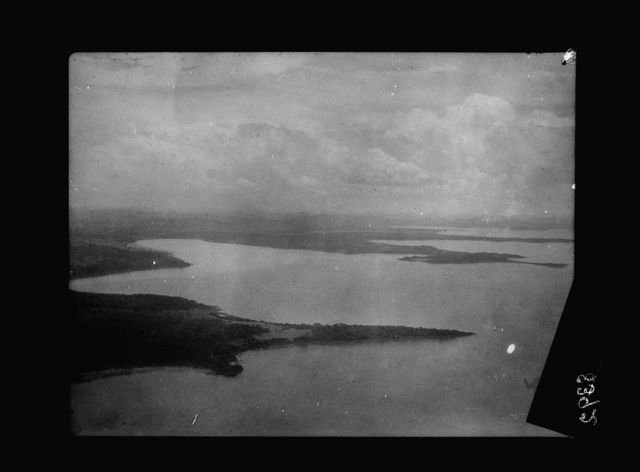 Uganda. Crossing the Victoria Lake into Kenya. Air view. Numerous bays and inlets of Victoria Lake