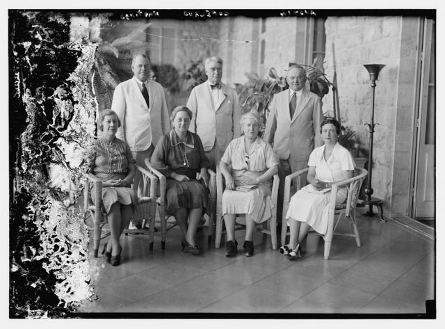 U.S. Senators and their wives. Jerusalem. Aug. 1936. R. Copeland, W. Austin, O. Hastings