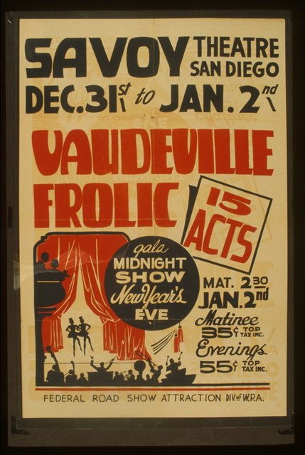 """""""Vaudeville frolic"""" 15 acts : Gala midnight show New Year's eve."""