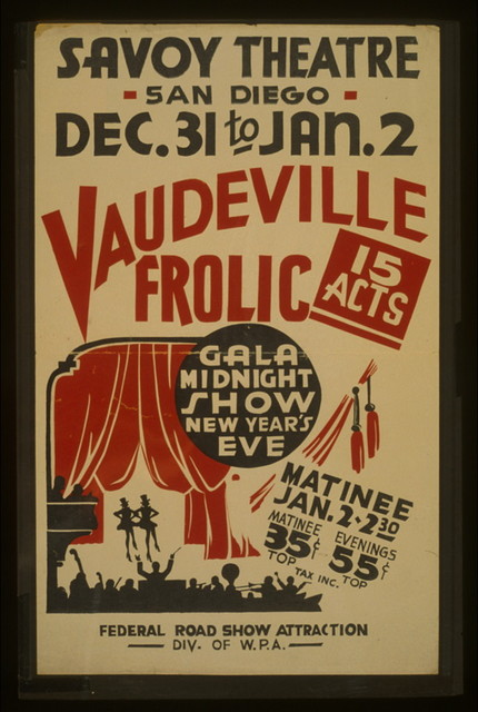 """""""Vaudeville frolic"""" Gala midnight show New Year's eve : 15 acts."""