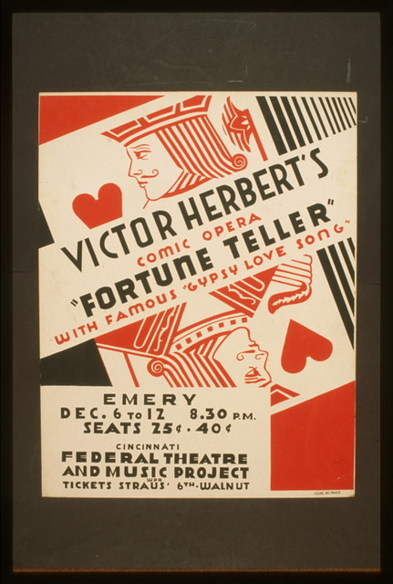 """Victor Herbert's comic opera """"Fortune teller"""" with famous """"gypsy love song"""""""