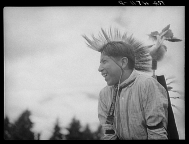 Warm Springs Indian boy. Molalla, Oregon