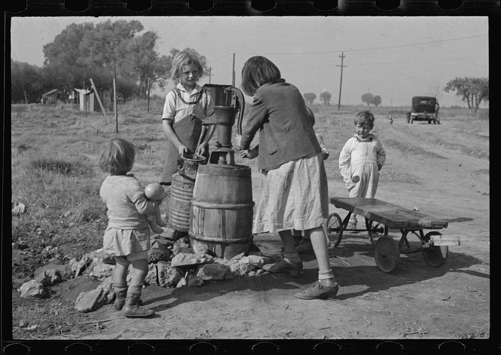 Water supply, American River camp, California, San Joaquin Valley