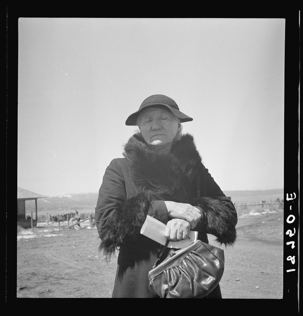 Widtsoe, Utah. Morman woman, native of Denmark, receiving her first old age assistance check