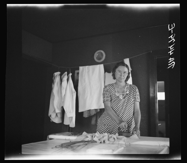 Wife of Falls City farmsteader. Nebraska