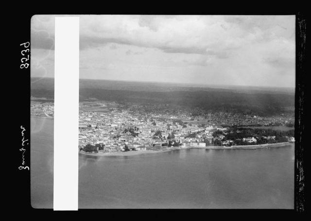 Zanzibar. Air view of the sea front