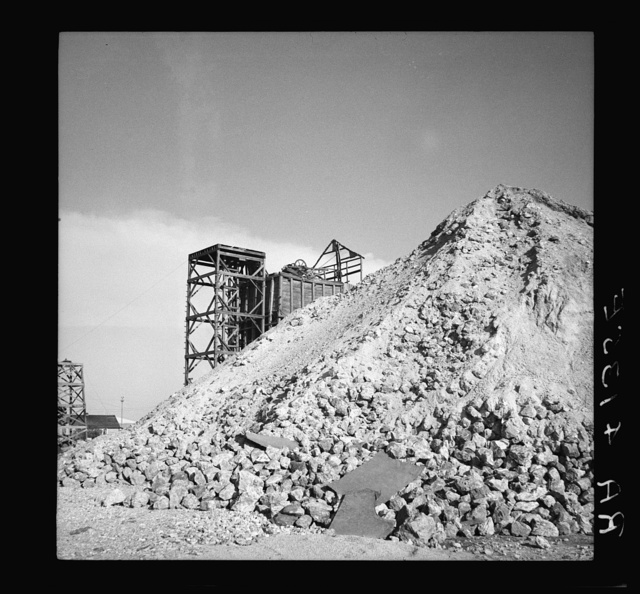Zinc mine. Picher, Oklahoma